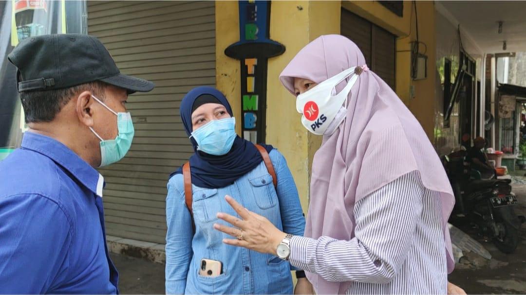 Agenda SARAPAN, Reni Astuti Tinjau Kondisi Jalan Ambles Jagir Sidoresmo